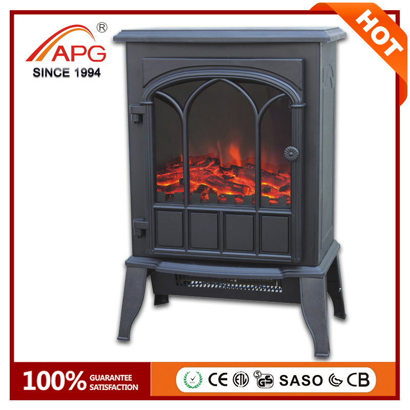 European Style Marble Electric Freestanding Stand Fireplace